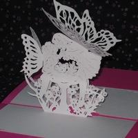 Киригами схемы открытки