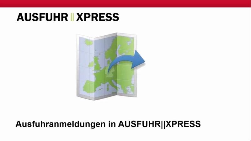 Ausfuhr anmeldungen - экспорта регистрация заявление аусфюа анмельдумэн