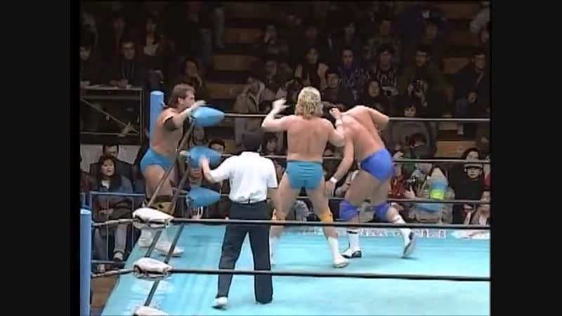 1995.01.29 - Jun Akiyama/Takao Omori vs. Tommy Rogers/Bobby Fulton