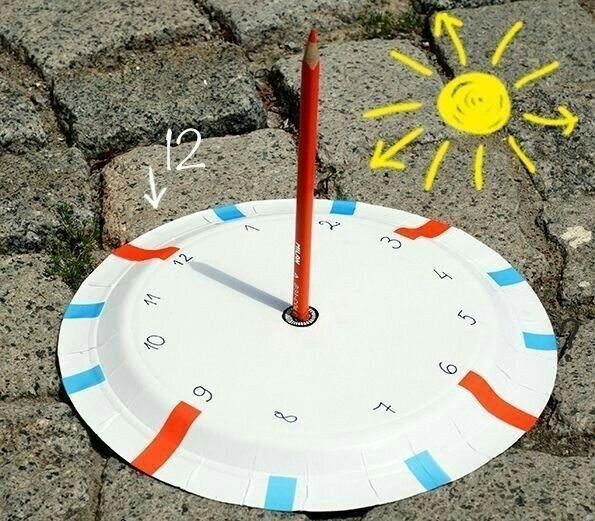 Как сделать солнечные часы своими руками Солнечные часы - весьма полезный инструмент. И чрезвычайно занимательный для детей. Кроме того, если к делу подойти масштабно и творчески, можно