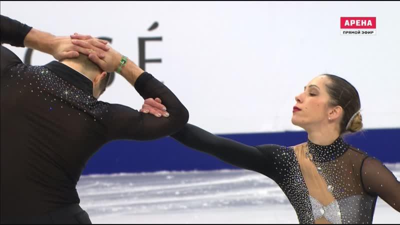 European Championships 2019. Pairs - SP. Nicole DELLA MONICA / Matteo GUARISE