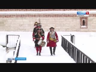Под стенами смоленской крепости реконструировали историю петровских времен