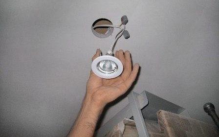 Установка точечных светильников - картинка 1