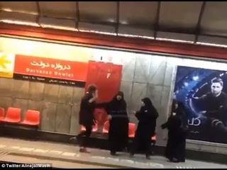Woman kicks morality police In Stomach who try to make her wear hijab in Iran