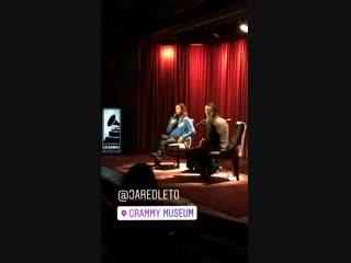 25.10.2018 • Мероприятия   Публичная беседа с Джаредом Лето   музей Grammy   Лос-Анджелес, США