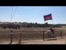 Азербайджанский флаг на международном курултае тюркских народностей в Венгрии