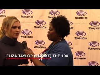 Eliza on her favorite episode of season 6 and the Bellarke family cosplayers at WonderCon