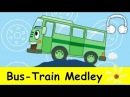 Muffin Songs - Bus Train Medley - Wheels on the Bus, This Train, Train to the City, Down by the Station, Good News