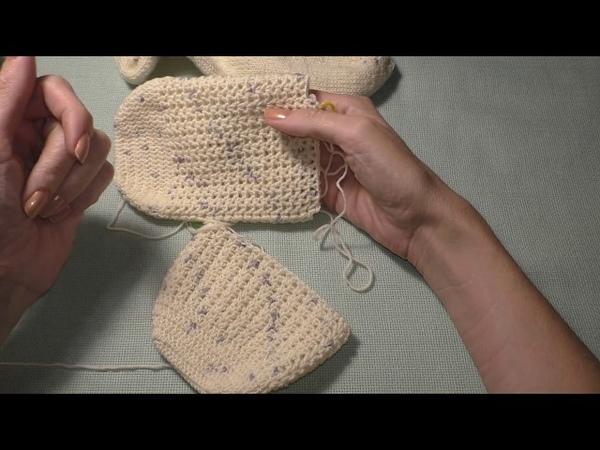 Носочки крючком для новичков. часть 2