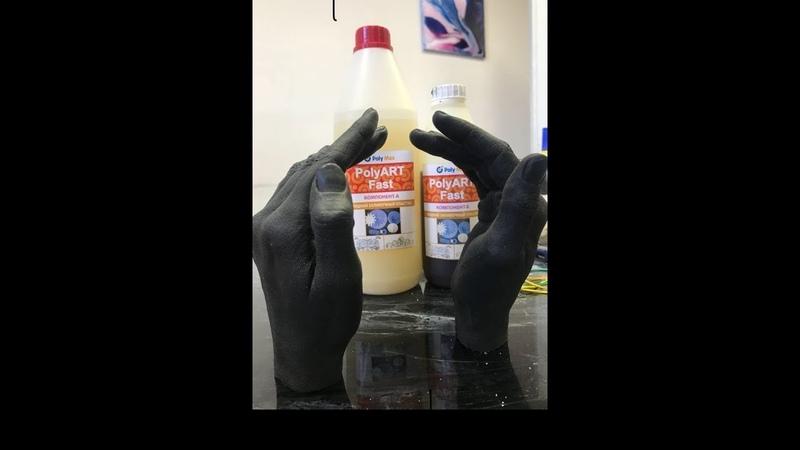 Копирование в силикон и заливка жидкого пластика DIY