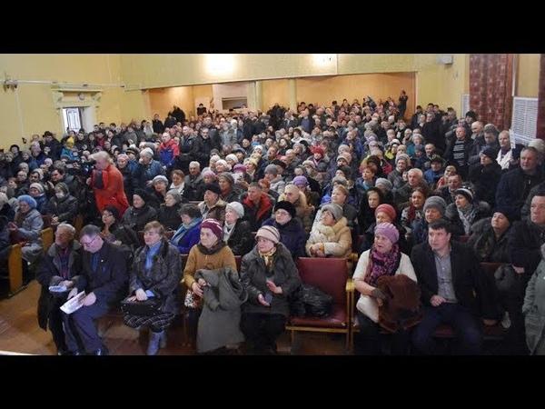 Митинг против высоких тарифов на вывоз мусора в Новомосковске