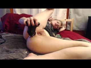 Anal riding monster bad dragon dildo in my bedroom by pupnpet, solo masturbation anal porno