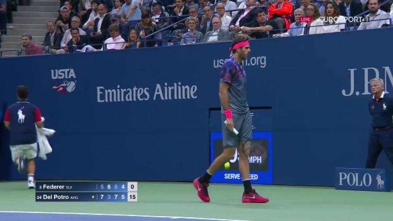 US Open 2017. Четвертьфинал. [3] Roger Federer - [24] Juan Martin Del Potro [07.09.2017]