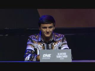 Алахверди Рамазанов рассказывает о себе на пресс-конференции ONE: Clash Of Legends