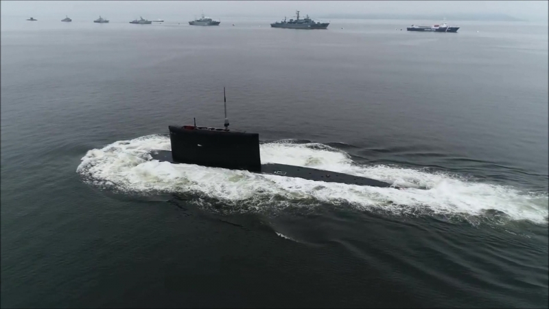 Всплытие плб Б-345. День ВМФ. Владивосток 2018г