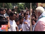 PM Modi interacts with youngsters at Ambedkar Park