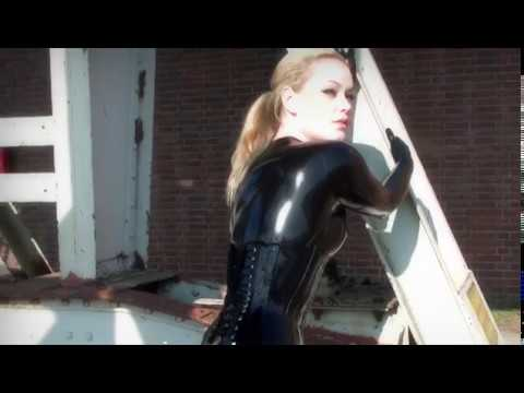 Mistress Sophie Green In Skin Tight Latex Catsuit Pt2
