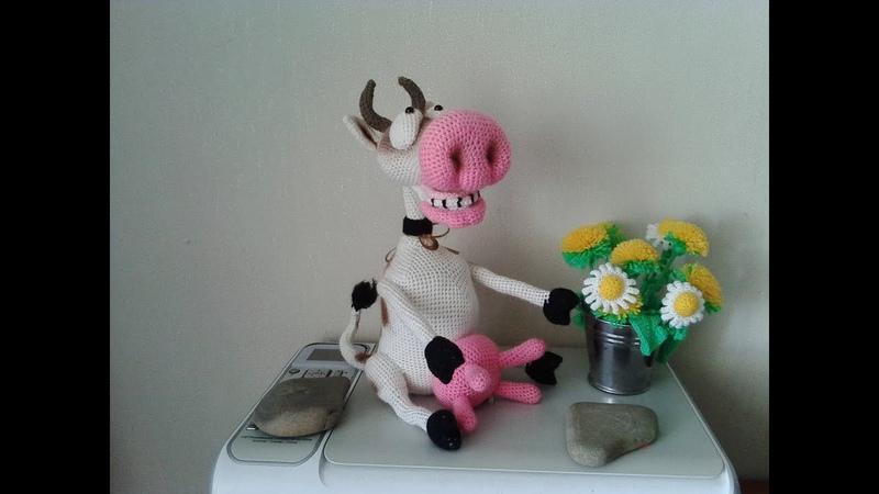 Веселая корова, ч.5. Cheerful cow, р.5. Amigurumi. Crochet. Амигуруми. Игрушки крючком.