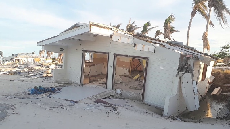 Club orient completely destroyed orient baie the beach 2018 after hurricane Irma St Martin