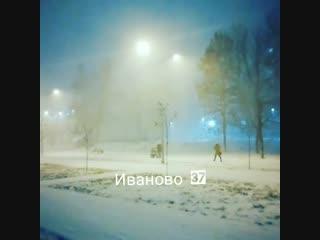 Снежная гроза в Иванове. 22.11.2018