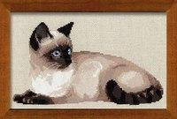 Набор для вышивания - Тайская кошка Артикул: 1066 Нитки: шерсть Количество цветов: 12 Размер: 38х26 см Вышивка: 138...
