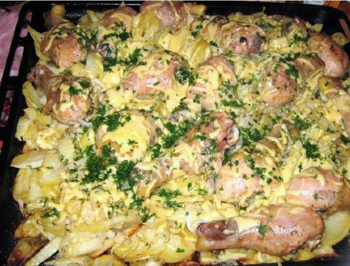 Вторые блюда рецепты с курицей и картошкой
