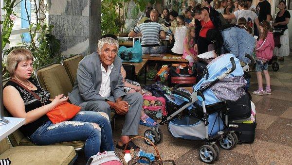 В Таганроге на сегодняшний день пребывает более 400 украинских беженцев