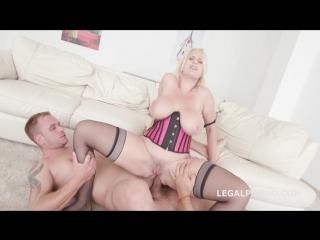 [LegalPorno] Angel Wicky gets Balls Deep Anal, Intense DAP [2018 г., Big tits, DAP, Lingerie, Stockings, Gape, A2M, Anal, 720p]