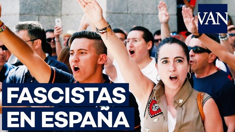 FASCISTAS protestan en el Valle de los Caídos contra la exhumación de Franco