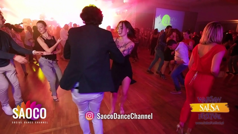 Cihan Guzel and Anastassía Abramova Salsa Dancing at El Sol Warsaw Salsa Festival, Friday 09.11.2018