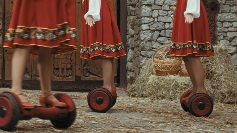 ХОРОВОД НА ГИРОСКУТЕРАХ! Приколы – русский народный танец на гироскутерах