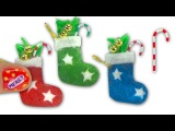 Как сделать рождественский носок для кукол How to make a doll Christmas stocking and candy cane - Tutorial DIY - Miniatures & Dollhouse ❤