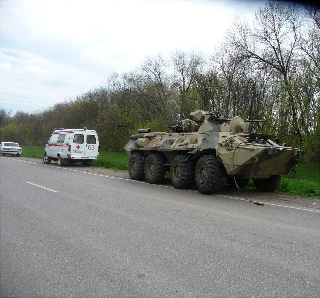 ДТП с участием военной техники на трассе Новочеркасск-Каменоломни