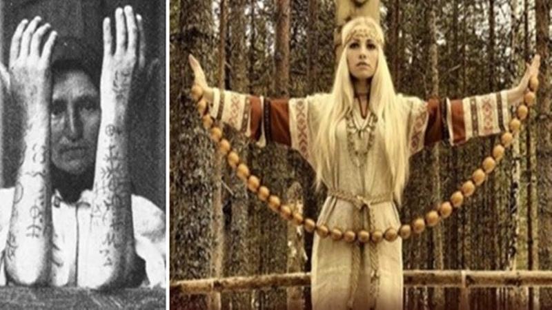ТАТУИРОВКИ КРЕСТАМИ Языческая женская традиция