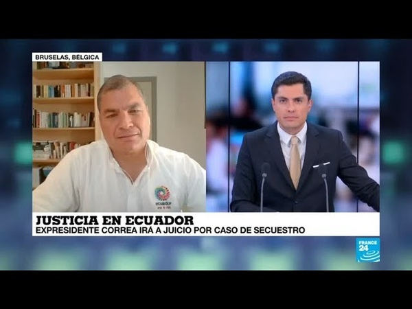 """Rafael Correa en France 24: """"la inmensa mayoría sabe que esto es una persecución política"""""""