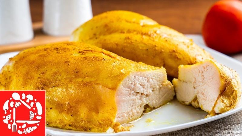 Лучший Рецепт Куриной Грудки Для Салата и не только Сочное куриное филе в духовке