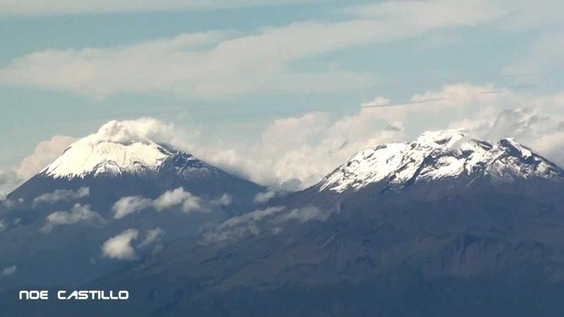 Vista Aerea Popocatepetl Iztaccihuatl - Despegue de la Ciudad de Mexico Pista 05L Interjet