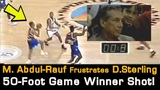 Mahmoud Abdul-Rauf's 50-foot Game Winner - Frustrates Ex-Clippers Owner Donald Sterling!