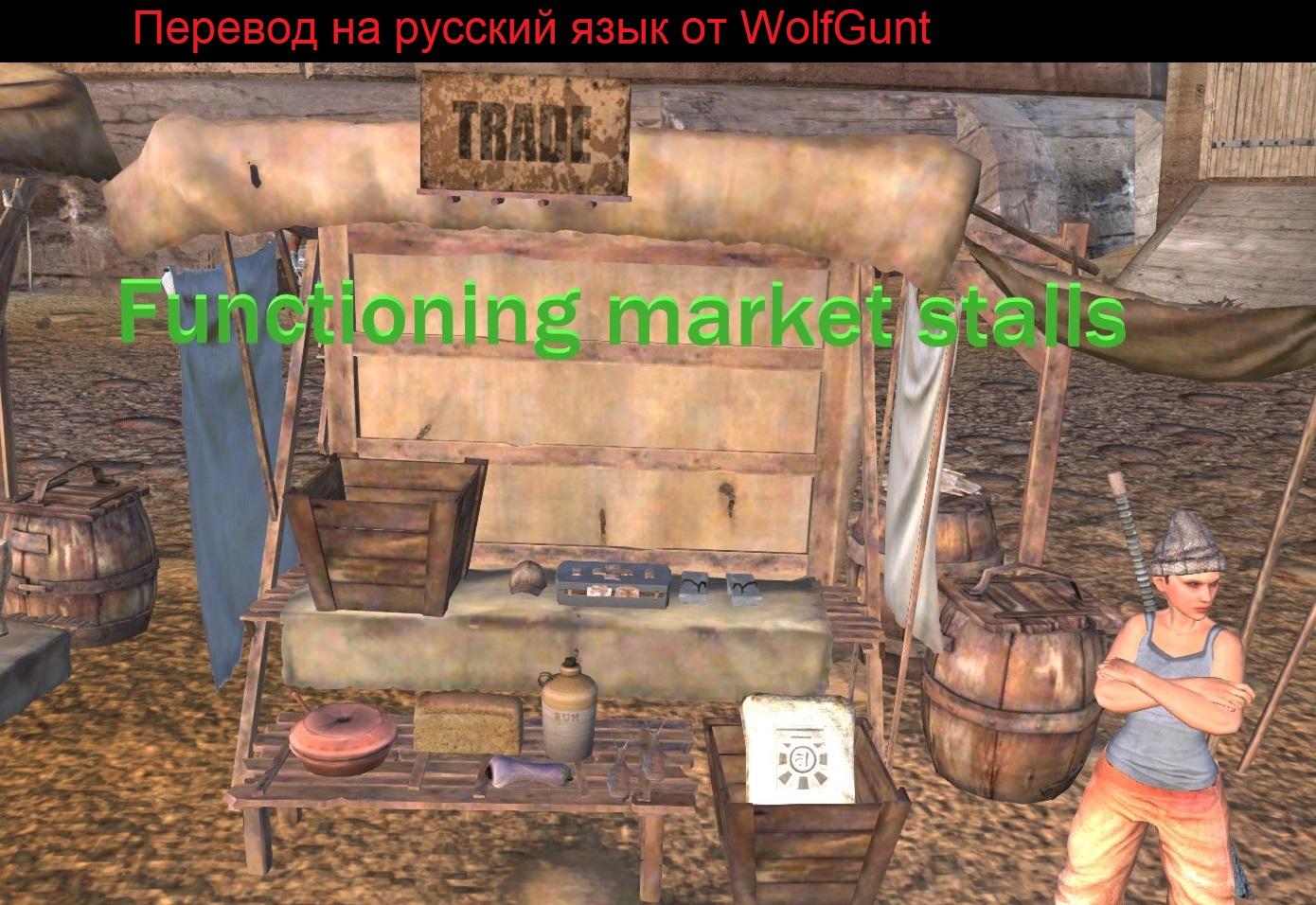 Functioning market stalls / Функционирующие рыночные прилавки (RU)