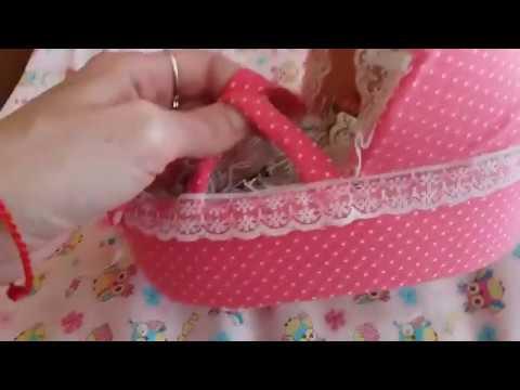 Как сделать кроватку переноску для мини реборна