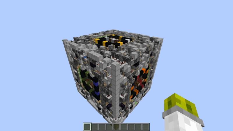 Кубик Рубика в Minecraft без использования командных блоков