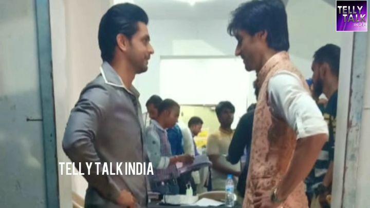 """Telly Talk India on Instagram """"@shaktiarora aka Kunal(silsilabadalterishtonka) @harshad_chopda aka Aditya(bepannaah) meet for the mahasangha..."""