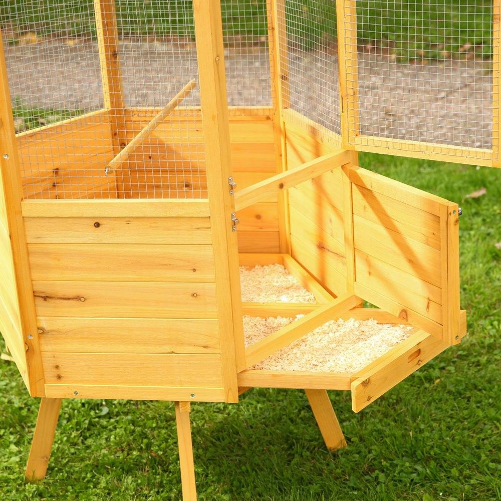 Pajarera de madera jaula del p jaro casa casita de aves - Casitas para pajaros jardin ...