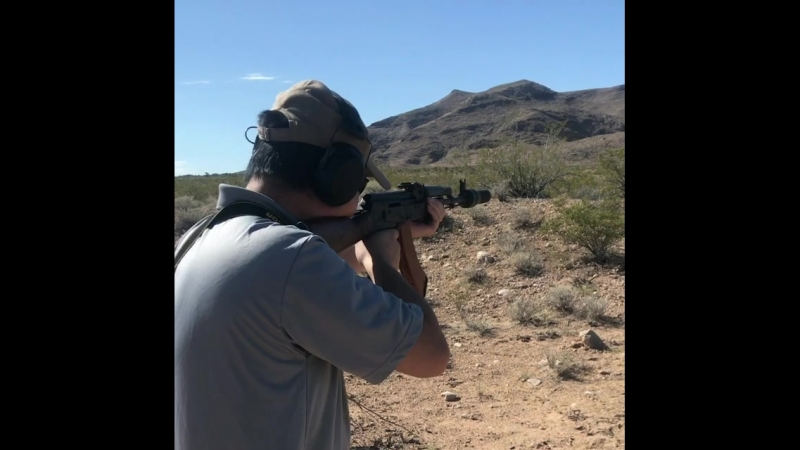 Tim trying out some 7 62x39 subsonic ammo