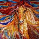 """Оригинал схемы вышивки  """"Marcia Baldwin - лошади """" ."""