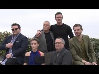 Beauty and the Beast Photocall - Emma Watson, Dan Stevens, Luke Evans, Josh Gad