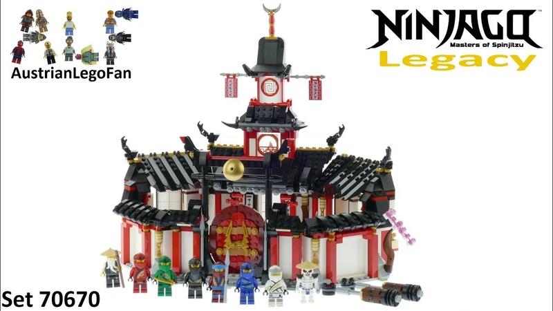 Lego Ninjago Legacy 70670 Monastery of Spinjitzu - Lego 70670 Speed Build