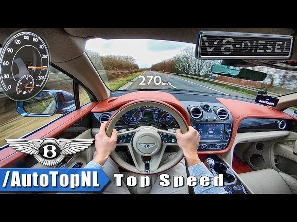 Bentley Bentayga V8 Diesel | ACCELERATION TOP SPEED on AUTOBAHN POV by AutoTopNL