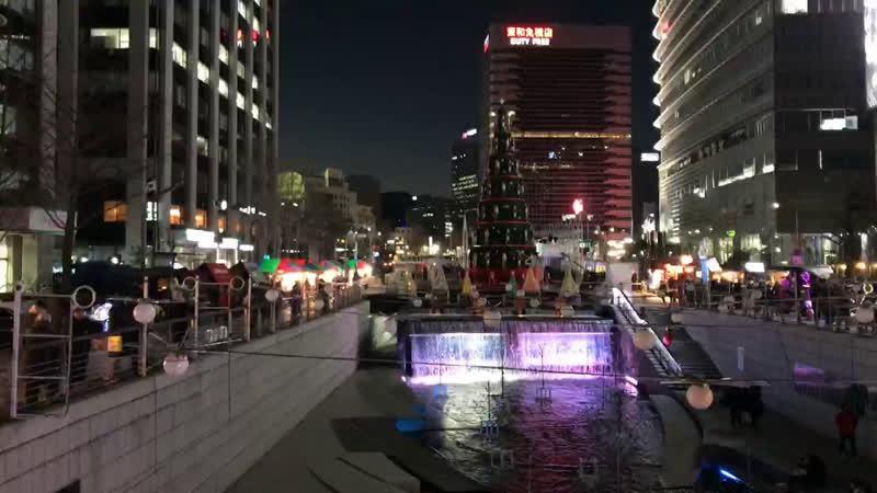 Продолжение. Рождественский фестиваль в Сеул у ручья Чхонгечхон (청계천, Cheongyecheon) ❄️🎄🎅🏻 Vi