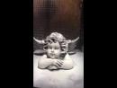 Скульптура Ангела из мраморной муки